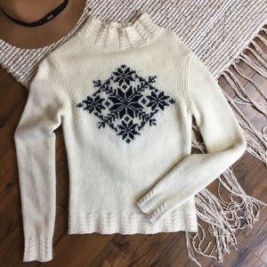 ❄️Moda International Wool Snowflake Sweater